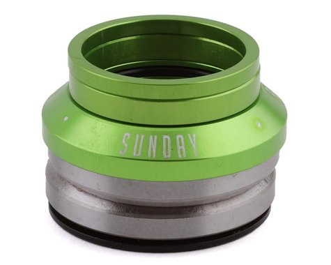 """Sunday Low Integrated Headset (Electro Green) (1-1/8"""")"""