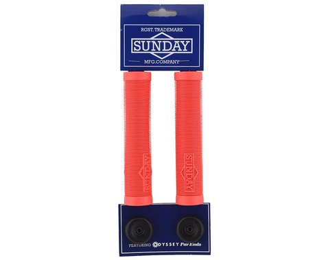 Sunday Cornerstone Grips (Bright Red) (Pair)