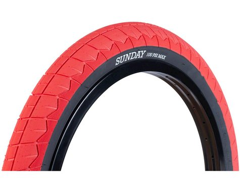 Sunday Current V2 BMX Tire (Red/Black) (20 x 2.40)