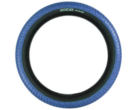 Sunday Street Sweeper Tire (Jake Seeley) (Blue/Black) (20 x 2.40)