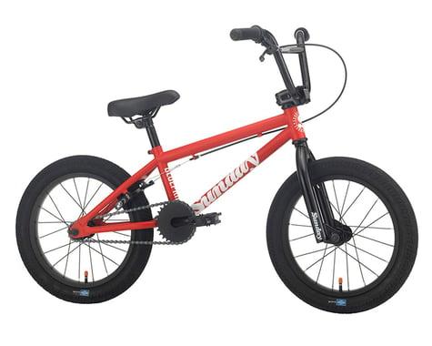 """Sunday 2021 Blueprint 16"""" BMX Bike (15.5"""" Toptube) (Matte Red)"""
