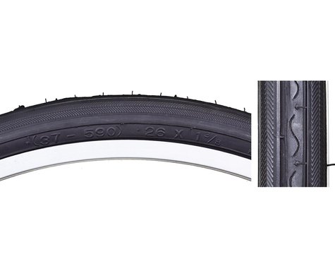 Sunlite Road Raised Center Tires (Black) (26 x 1-3/8)
