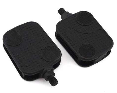 "Sunlite Non-Slip Barefoot Cruiser Pedals (Black) (1/2"")"
