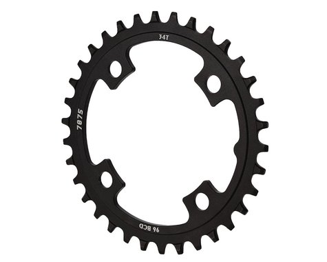 Sunrace CRMX0 Alloy Chainring (Black) (96mm BCD) (34T)