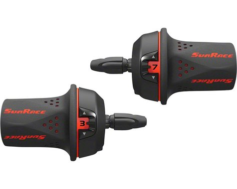 Sunrace M21 Twist Shifter Set (Black/Red)