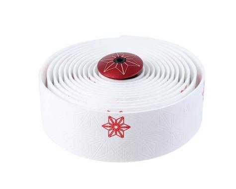 Supacaz Super Sticky Kush Bar Tape (Galaxy White w/ Red)