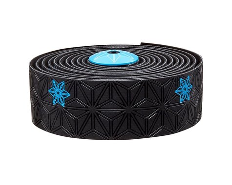 Supacaz Super Sticky Kush Handlebar Tape (Neon Blue/Galaxy Black)