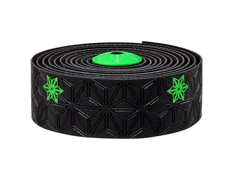 Supacaz Super Sticky Kush Handlebar Tape (Neon Green/Galaxy Black)