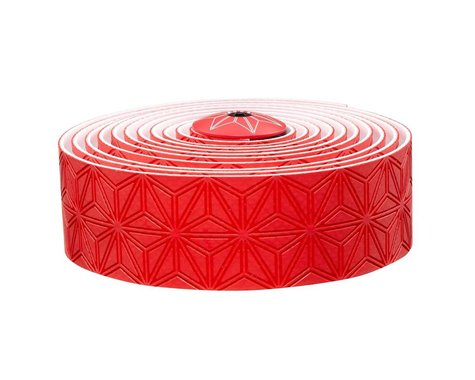 Supacaz Super Sticky Kush Handlebar Tape w/ Silicone Gel (Red)