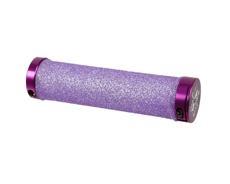 Supacaz Diamond Kush Locking Grips (Neon Purple w/ Purple Rings)