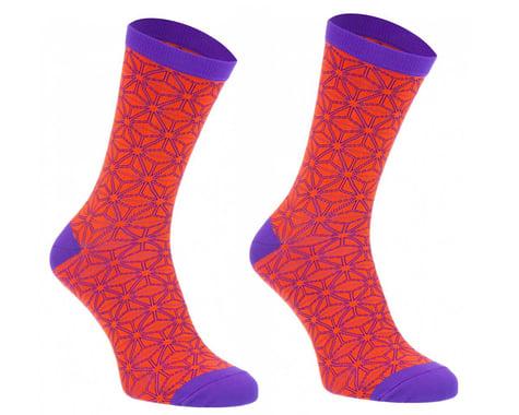 Supacaz SupaSox Asanoha Socks (Neon Orange) (S/M)