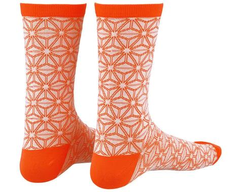 Supacaz SupaSox Asanoha Socks (White/Coral) (L/XL)