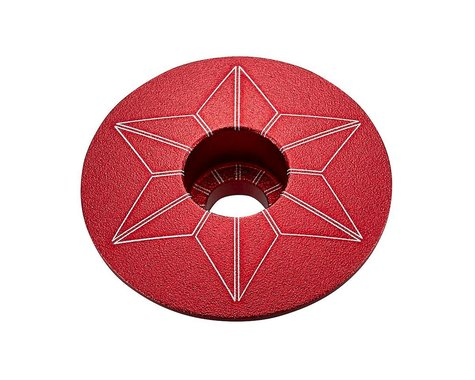 Supacaz Star Cap (Red Anodized)