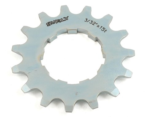 "Surly Single Speed Splined Cog (Silver) (3/32"") (15T)"