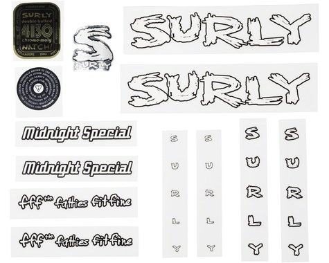 Surly Midnight Special Decal Set White