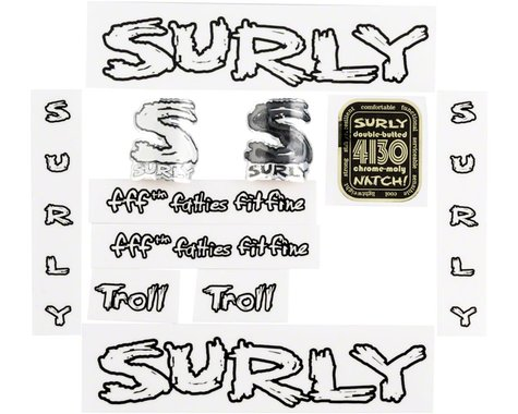 Surly Troll Decal Set with Headbadge Transparent