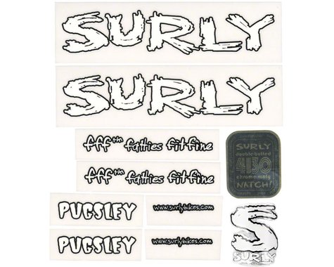 Surly Pugsley Decal Set with Headbadge White
