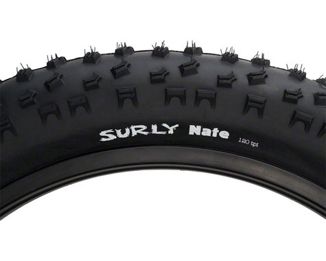 Surly Nate Tire - 26 x 3.8, Clincher, Folding, Black, 120tpi