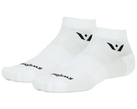 "Swiftwick Aspire One 1"" Cuff Sock (White) (M)"