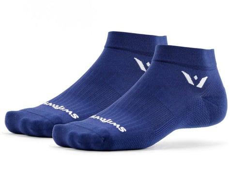 "Swiftwick Aspire One 1"" Cuff Sock (Navy) (L) (M)"
