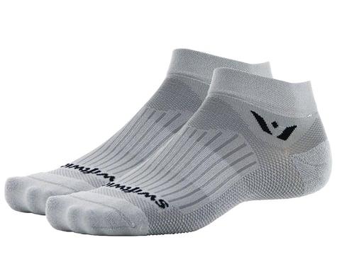 "Swiftwick Aspire One 1"" Cuff Sock (Pewter) (L)"
