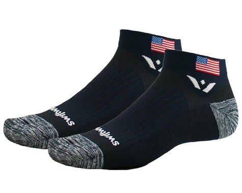 Swiftwick Vision One Tribute Socks (USA Flag/Navy) (M)