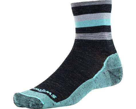 Swiftwick Pursuit Four Ultra Light Hike Sock (Coal Mint)