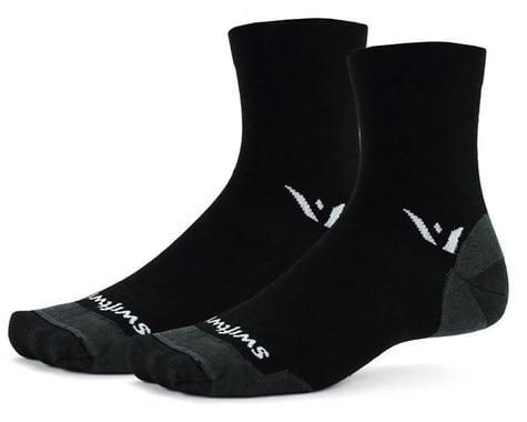 Swiftwick Pursuit Four Ultralight Socks (Black) (XL)