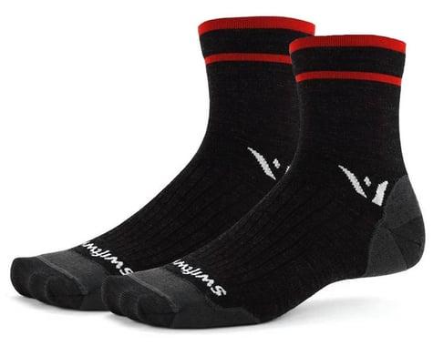 Swiftwick Pursuit Four Ultralight Socks (Coal Red) (M)