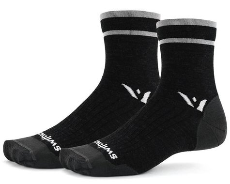 Swiftwick Pursuit Four Ultralight Socks (Coal Grey) (L)