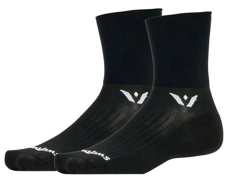 Swiftwick Aspire Four Socks (Black) (L)