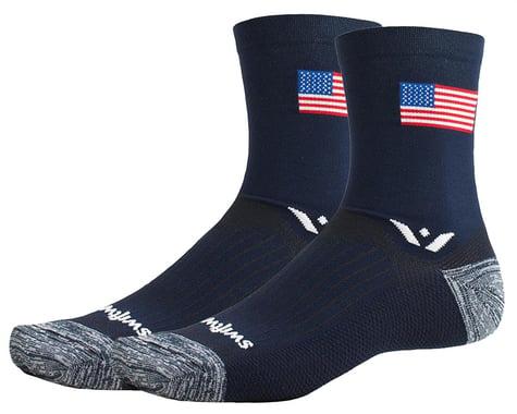 Swiftwick Vision Five Tribute Socks (USA Flag) (L)
