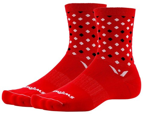 Swiftwick Vision Five Socks (Red/Black) (S)