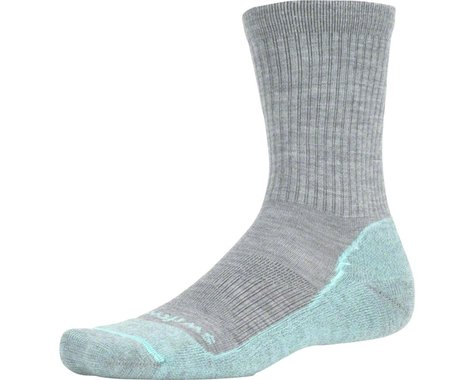 Swiftwick Pursuit Hike Six Light Cushion Wool Sock: Heather/Red LG