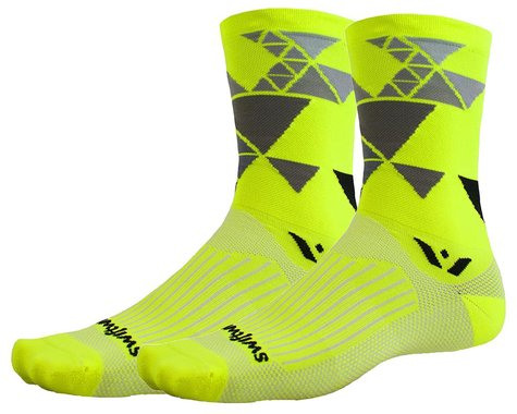 Swiftwick Vision Six Geometric Socks (Yellow) (XL)
