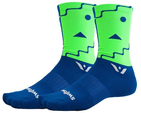 Swiftwick Vision Six Abstract Socks (Blue) (XL)