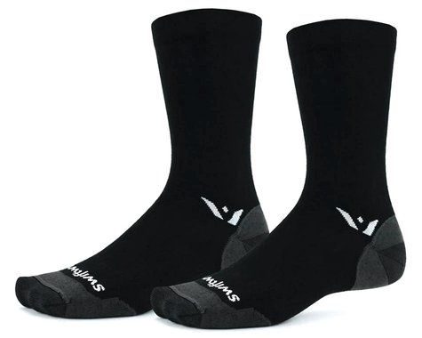 Swiftwick Pursuit Seven Ultralight Socks (Black) (XL)
