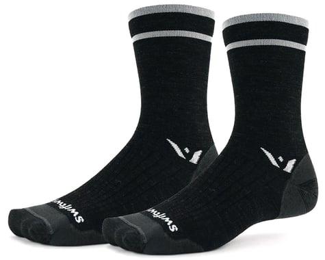 Swiftwick Pursuit Seven Ultralight Socks (Coal Grey) (XL)