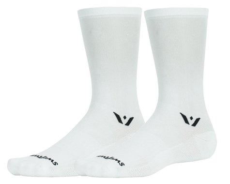 Swiftwick Aspire Seven Sock (White) (XL)