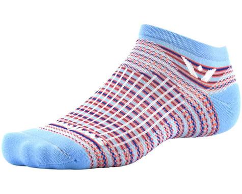 Swiftwick Aspire Stripe Zero Sock (Sky Blue/Orange) (L)
