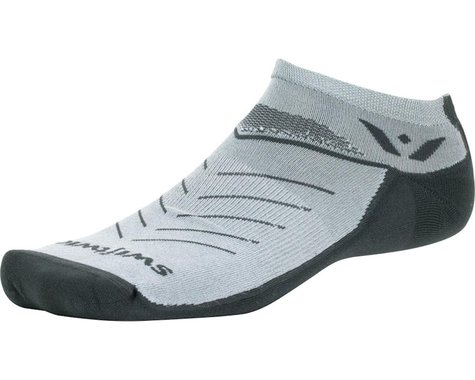 Swiftwick Vibe Zero Socks - No Show, Pewter/Pink/Gray, Large