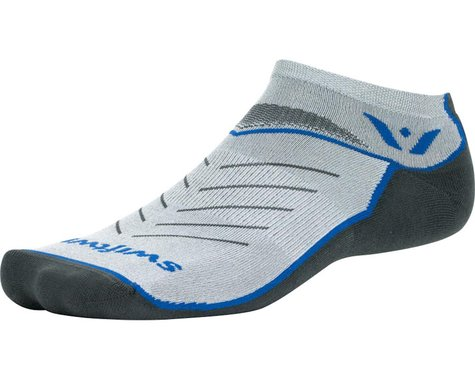 Swiftwick Vibe Zero Sock (Pewter/Olympic Blue/Gray)