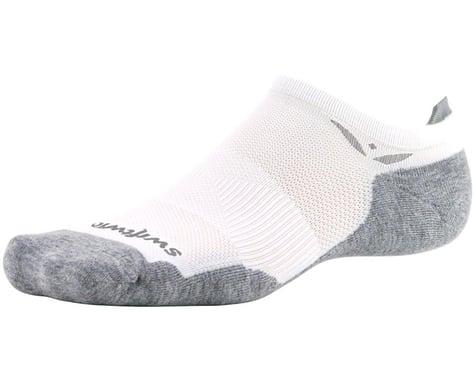 Swiftwick Maxus Zero Tab Socks (White) (M)