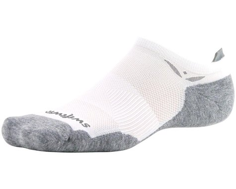 Swiftwick Maxus Zero Tab Socks (White) (S)