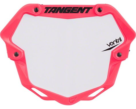 Tangent Ventril 3D Pro Number Plate (Neon Pink) (L)