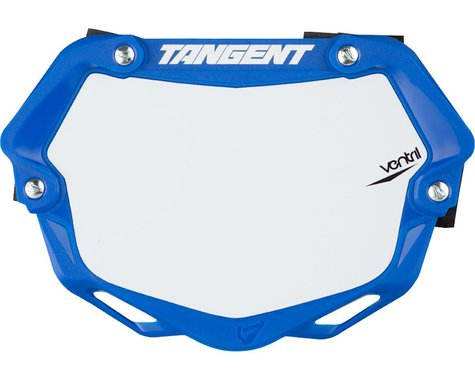 Tangent Mini Ventril 3D Number Plate - Blue/White