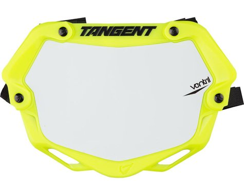 Tangent Mini Ventril 3D Number Plate - Neon Yellow/White