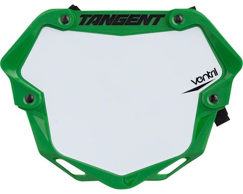 Tangent Mini Ventril 3D Number Plate - Neon Green/White