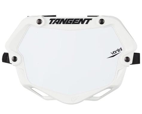 Tangent Mini Ventril 3D Number Plate - White/White