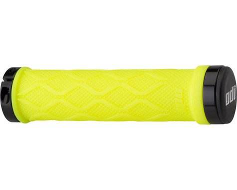 Tangent Lock-ons Grips - Neon Yellow, Lock-On